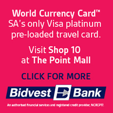 Purchase World Currency Cards at Bidvest Bank in The Point , Sea Point