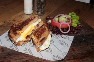 Egg & Bacon Sandwich from Knead
