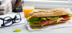Free delivery of delicious sandwich
