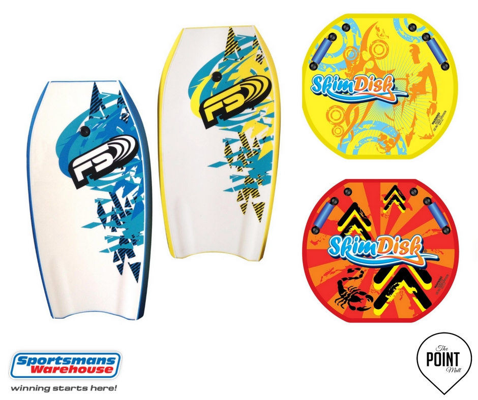 Sportsmans Warehouse body boards and skim boards