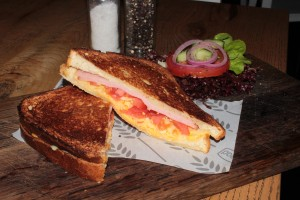 Ham, Cheese & Tomato Sandwich from Knead