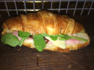 Ham, Mozzarella & Caramalised Onions on Croissant from Knead