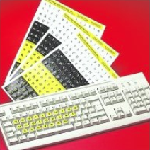 Alphabet sticker keyboard